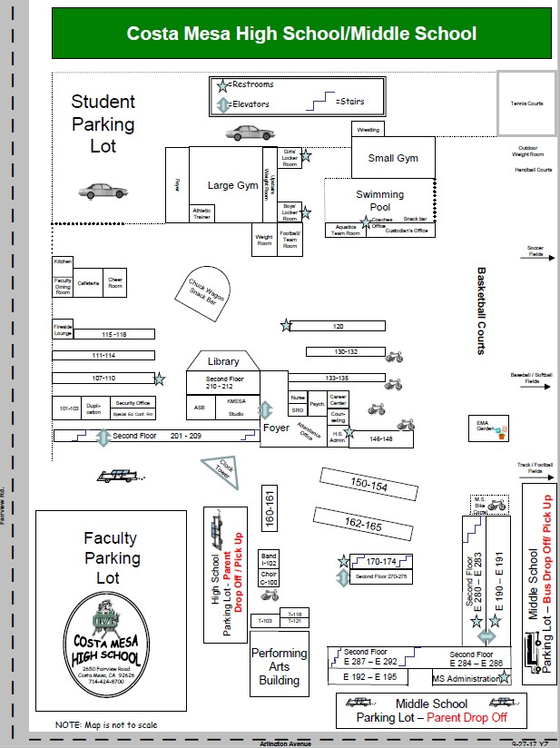 Campus Map flyer