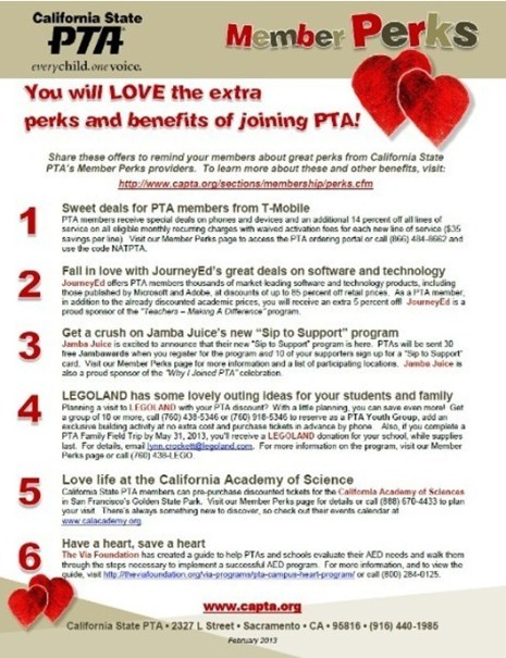 CMHS PTSA - You will love the extra benefits and perks