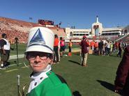 heyward on the field at USC football game band day