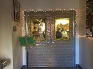 band room wins christmas door decorating contest