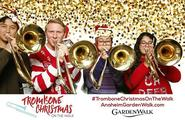 landon, terry and friends at Trombone Christmas 2017