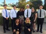 string ensemble pose for picture at VanGuard University festival
