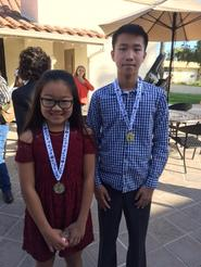 Paige and Ben receive Excellent medal at small ensemble festival