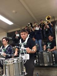 CMHS pep band performs at CIF boys basketball playoffs