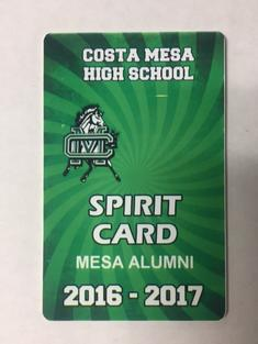 The 2016/17 SPIRIT Card ( for all non students) $75